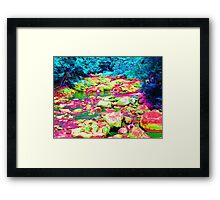 Psychedelic Stream Framed Print
