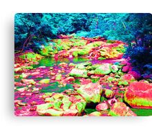 Psychedelic Stream Canvas Print
