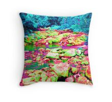 Psychedelic Stream Throw Pillow