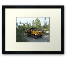 Truck, Chernobyl exclusion zone Framed Print