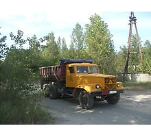 Truck, Chernobyl exclusion zone Photographic Print
