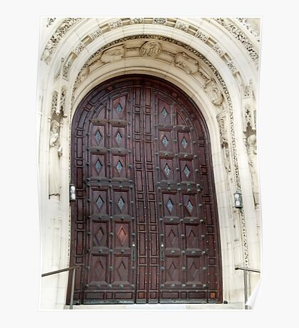 Rosary Cathedral doorway Poster