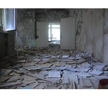 Books, Pripyat secondary school Photographic Print