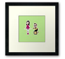 Stop Motion Christmas - Jeff/Annie (Style A) Framed Print