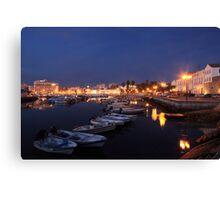 Faro At Night Canvas Print