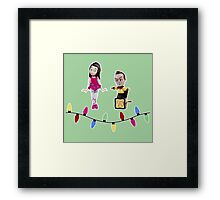 Stop Motion Christmas - Jeff/Annie (Style B) Framed Print