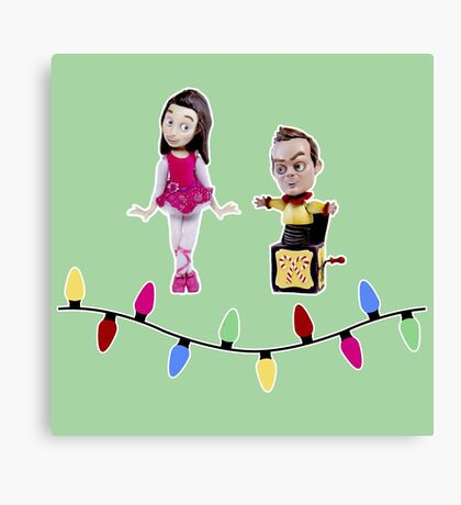 Stop Motion Christmas - Jeff/Annie (Style B) Canvas Print