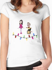 Stop Motion Christmas - Jeff/Annie (Style B) Women's Fitted Scoop T-Shirt