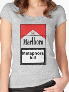 Metaphors Kill Women's Fitted Scoop T-Shirt