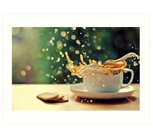 coffee splash! Art Print