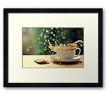 coffee splash! Framed Print