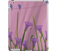 Blue Birds On A Wire iPad Case/Skin