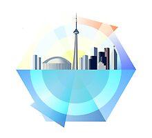 Graphical Toronto Skyline by emilyauban