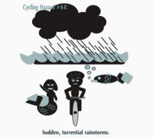 Cycling hazard #44 - Sudden Torrential Rainstorms One Piece - Short Sleeve