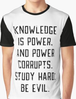 Knowledge is Power (white) Graphic T-Shirt