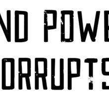 Knowledge is Power (white) Sticker