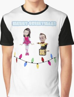 Stop Motion Christmas - Jeff/Annie (Style C) Graphic T-Shirt