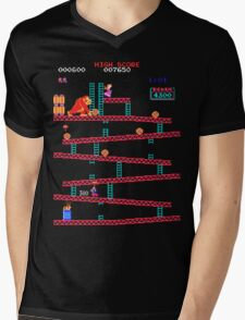 Arcade Kong Mens V-Neck T-Shirt