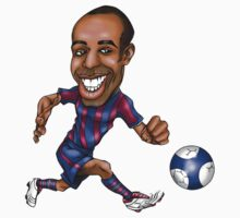 Thierry Henry - FC Barcelona Cartoon by Thierry Henry14.net