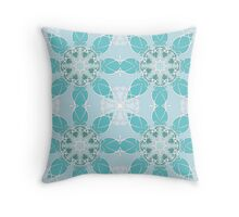Gentle blue pattern Throw Pillow