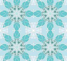 Gentle blue pattern by fantasygerle
