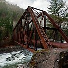 Old Pipeline Bridge - Tumwater Canyon, WA by Mark Heller
