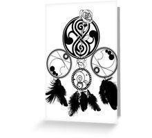 Gallifreyan Dream Catcher Greeting Card