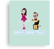 Stop Motion Christmas - Jeff/Annie (Style D) Canvas Print