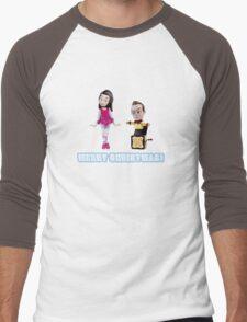 Stop Motion Christmas - Jeff/Annie (Style D) Men's Baseball ¾ T-Shirt