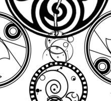 Gallifreyan Dream Catcher Sticker