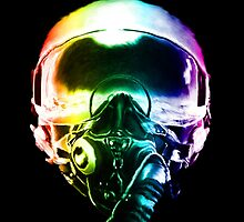 Colorful Fighter Pilot Helmet by rott515