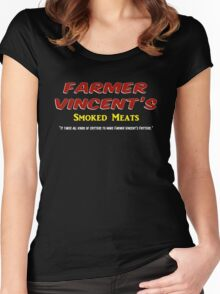 Farmer Vincent's Smoked Meats Women's Fitted Scoop T-Shirt