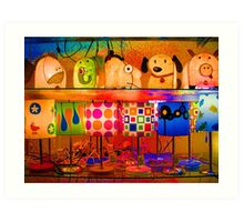 Psychedelic Lamps Art Print