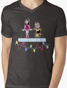 Stop Motion Christmas - Jeff/Annie (Style E) Mens V-Neck T-Shirt