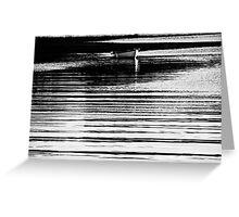 Barque en lignes Greeting Card