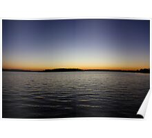 Sunset on a Lake Poster