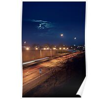 Night Time Highway Poster