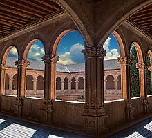 Spain. Salamanca. San Esteban Church. Cloisters. by vadim19