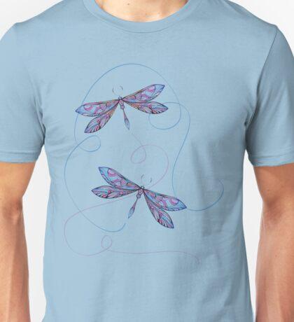 flying dragonflies Unisex T-Shirt