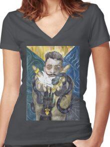 Dorian Pavus Romance Tarot Women's Fitted V-Neck T-Shirt