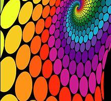 rainbow swirl dots by sabrina card