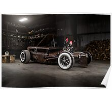 1930 Ford Model A Rat Rod Poster