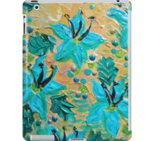 BLOOMING BEAUTIFUL - Modern Abstract Acrylic Tropical Floral Painting, Home Decor Gift for Her iPad Case/Skin