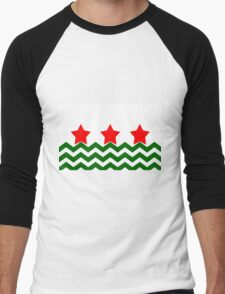 Chevron Christmas Cushion 4 Men's Baseball ¾ T-Shirt
