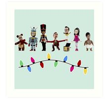 Stop Motion Christmas - Style E Art Print