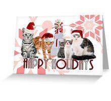 Holiday Cats - Card Greeting Card