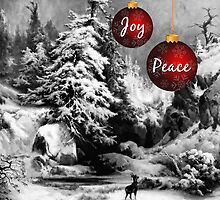 Vintage Peace and Joy - Card by Doreen Erhardt