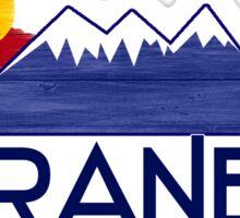 Granby Colorado wood mountains Sticker