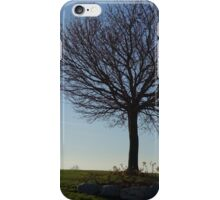 Tree, couple walking by Crescent Beach in White Rock, BC iPhone Case/Skin