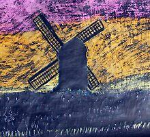 """""""Pastel Windmill""""  by Carter L. Shepard by echoesofheaven"""